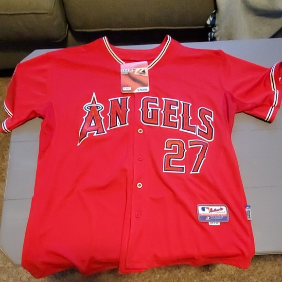 check out 423b7 cc49e Mike Trout Jersey - Fake bought from AliExpress NWT